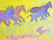 Roaming Originals - Mustangs 100 by Richard W Linford