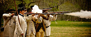 American War Of Independence Prints - Muzzle Fire Print by Mark Miller