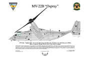 Helicopter Digital Art Prints - Mv-22b 6732 Vmm-261 Print by Arthur Eggers