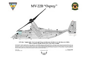 Naval Aviation Posters - Mv-22b 6737 Vmm-261 Poster by Arthur Eggers