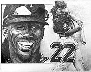 Pittsburgh Pirates Drawings Originals - MVP Andrew McCutchen by Susan Rosa