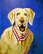 Saving Paintings - MWD Gabe SSD  by True Vine Gallery-- Donna E Dixon