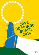 2014 Prints - My 2014 World Cup Minimal Poster Print by Chungkong Art