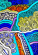 Aboriginal Art Digital Art - My Aboriginal drawing 5 Australia by Roberto Gagliardi
