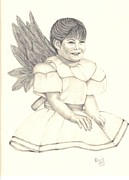 Angel Drawings - My Angel by Patricia Hiltz
