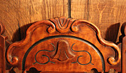 Wooden Paneling Prints - My Antique Chair 6 Print by Mary Bedy