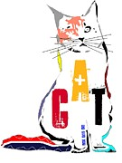Word Portrait Mixed Media Posters - My Art Cat  Poster by Brian Buckley