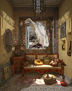 Elena Yakubovich Prints - My Art in the Interior Decoration - Morocco - Elena Yakubovich Print by Elena Yakubovich
