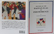 Nicole Jean-louis Posters - My Artwork The Making Of The Haitian Flag In Publication Poster by Nicole Jean-Louis