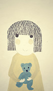 Childhood Posters - My Bear and Me Poster by Katy McFall