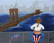 Puerto Rico Painting Posters - My beautiful New York Poster by Delia Rios