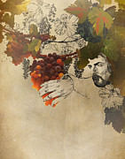 Grape Vineyards Mixed Media Prints - My Beloved is the Best Among Ten Thousand Print by Sarah Wathen