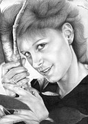 Photo Realism Drawings Metal Prints - My Bestest Friend Evah Metal Print by Sheryl Unwin