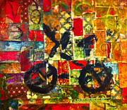 Bicycle Collage Prints - My Bicycle Print by Nerissa Nordquist