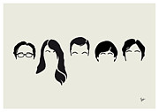 Theory  Posters - My-big-bang-hair-theory Poster by Chungkong Art