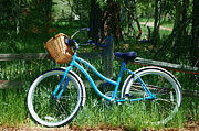Split Rail Fence Photos - My bike by Tamyra Crossley