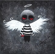 Lowbrow Posters - My Bloody Angel Poster by Oddball Art Co by Lizzy Love