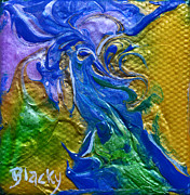 Donna Blackhall Posters - My Blue Dragon Poster by Donna Blackhall