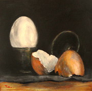 Timi Johnson Prints - My Broken Egg Print by Timi Johnson