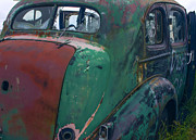 Rusted Cars Posters - My but  you have let  yourself go Poster by Jean Noren