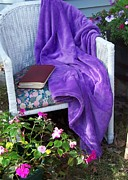 Purple Robe Framed Prints - My Chair Framed Print by Kathleen Luther