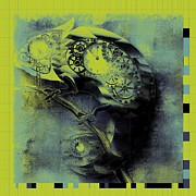 Chameleon - Lime - 01b02 Print by Variance Collections