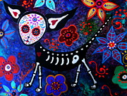 Dog Art Of Chihuahua Framed Prints - My Chihuahua Dia De Los Muertos Framed Print by Pristine Cartera Turkus