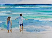 Jill Morris - My Children at the Beach