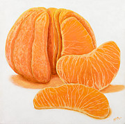 Oranges Painting Originals - My Clementine by Garry McMichael