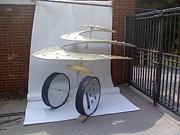 Wheels Sculptures - My da Vinci inspired sculpture by Stacy Bottoms