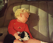 John Haldane Prints - My Dad A Boy and his Dog 1932 Print by John Haldane