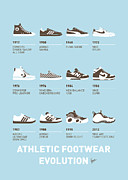 Pc Posters - My Evolution Sneaker minimal poster Poster by Chungkong Art