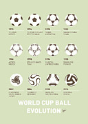 Nike Digital Art Metal Prints - My Evolution Soccer Ball minimal poster Metal Print by Chungkong Art