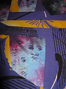Featured Tapestries - Textiles Originals - My Face in the Crowd by Edjohnetta Miller
