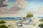 Sand Dunes Painting Framed Prints - My Favorite Beach II Framed Print by Wanda Dansereau