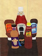 Heinz Painting Posters - My Favourite Sauces Poster by Bav Patel