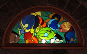 Colorful Tropical Fish Glass Art - My Fish Tank by Julie Turner
