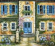 My French Villa Print by Marilyn Dunlap