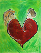 Heart Broken Prints - My Funny Valentine Print by Donna Blackhall