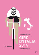 Cycling Metal Prints - My Giro D Italia Minimal Poster 2014 Metal Print by Chungkong Art