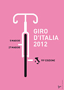 A Posters Framed Prints - My Giro D Italia Minimal Poster Framed Print by Chungkong Art