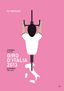 Simple Digital Art Metal Prints - My Giro Ditalia Minimal Poster Metal Print by Chungkong Art