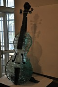 Guitar Glass Art - My Glass Guitar by Levan Gogashvili