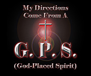Religious Digital Art Prints - My GPS Print by Carolyn Marshall