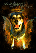 Pet Loss Posters - My Guardian Angel - Hollister Poster by Kathy Tarochione