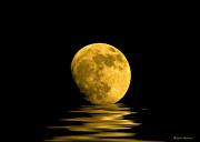 Dream Metal Prints - My Harvest Moon Metal Print by Lynn Andrews