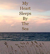 Oats Pyrography Prints - My Heart Sleeps By The Sea Print by Maya Nagel