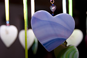 Wind Chimes Posters - My Hearts On A String Poster by Joie Cameron-Brown
