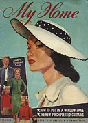 WomenÕs Art - My Home 1956 1950s Usa Magazines Womens by The Advertising Archives