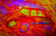 Tendency Mixed Media - My hot car by Hilde Widerberg